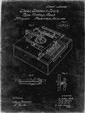 Type Writing Machine Patent - Black Grunge