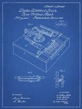 Type Writing Machine Patent - Blueprint