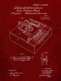 Type Writing Machine Patent - Burgundy