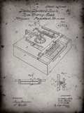 Type Writing Machine Patent - Faded Grey