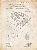 Type Writing Machine Patent - Vintage Parchment