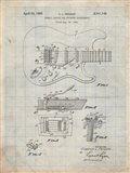 Tremolo Device for Stringed Instruments Patent - Antique Grid Parchment