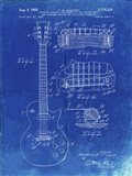 Guitar & Combined Bridge & Tailpiece Therefor Patent - Faded Blueprint