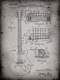 Guitar & Combined Bridge & Tailpiece Therefor Patent - Faded Grey