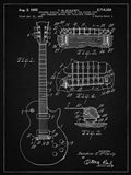 Guitar & Combined Bridge & Tailpiece Therefor Patent - Vintage Black