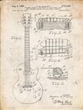 Guitar & Combined Bridge & Tailpiece Therefor Patent - Vintage Parchment