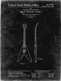 Stringed Musical Instrument Patent - Black Grunge