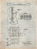 Electric Guitar Patent - Antique Grid Parchment