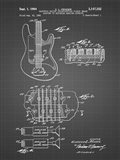 Electric Guitar Patent - Black Grid