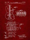Electric Guitar Patent - Burgundy