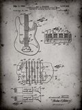 Electric Guitar Patent - Faded Grey