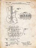 Electric Guitar Patent - Vintage Parchment