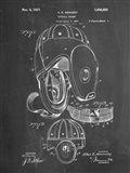 Chalkboard Football Leather Helmet 1927 Patent