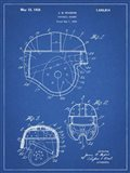 Blueprint Football Helmet 1925 Patent