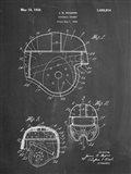 Chalkboard Football Helmet 1925 Patent