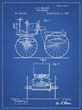 Blueprint Motor Buggy 1895 Patent Print
