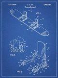 Blueprint Burton Baseless Binding 1995 Snowboard Patent