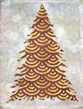Decorated Red and Gold Xmas Tree