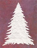 Snowy Fir Tree on pink