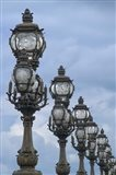 Art Nouveau Lamps Posts on Pont Alexandre III - II