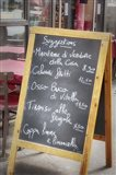 Menu On Paris Street