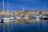 Marina And Ancient Walled City Of Saint-Malo