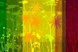 Flower Shades Green Yellow Red