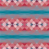 Ethnic Pattern Red Blue