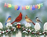 Holiday Birds and Garland