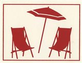 Red Umbrella & Chairs