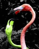 Flamingos Pink & Green