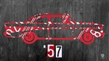 57 Chevy License Plate Art