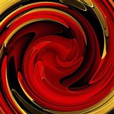 Red Gold Swirl