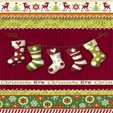 Christmas Eve Stocking Holiday Knit