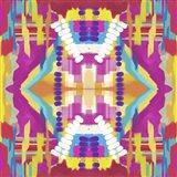 Abstract purple beads