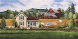 House, Quilt & Red Barn