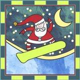 Santa Claus Snowboarding 4