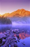 Mountain Reflection, Purple Fog