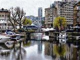 Foggy Reflections at St Katharine Docks London
