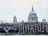 Millennium Bridge to St Paul's Cathedral London
