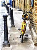 Yellow Moped at Shad Thames