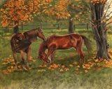 Autumn Pastures Horses