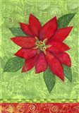 Poinsettia Collage Flag