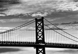 Benjamin Franklin Bridge (b/w)