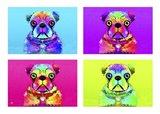 Pug Psychodelic Poster XXXII
