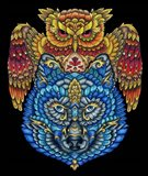 Animals Lovers - Owl & Wolf