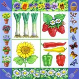 Gardening Veggies + Fruits Square