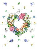 Lily Heart Wreath