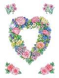 Pretty Pinks Heart Wreath