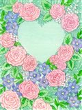 Roses on Green Heart